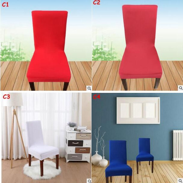 Solid Color Removable Chair Cover Stretch Elastic Slipcovers Restaurant For Weddings Banquet Folding Hotel Chair Covering