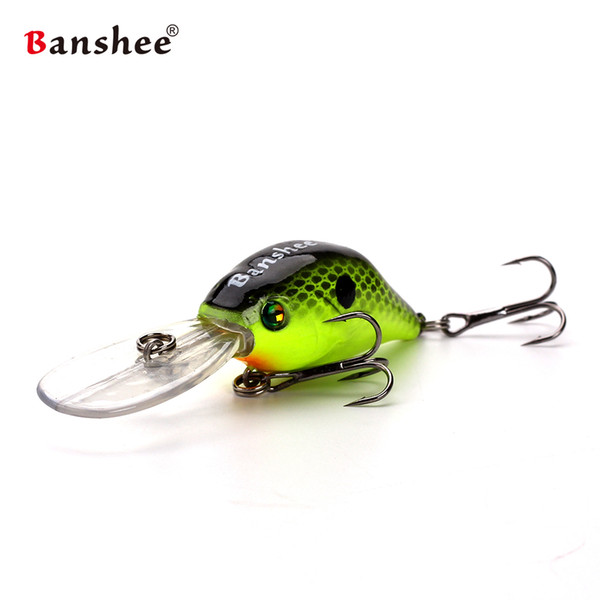 Banshee 50mm 10g Profound Pulse Floating VC07 Bass Fishing Lure Sound Wobbler Hard Artificial Bait Deep Diving Crankbaits Y1890402