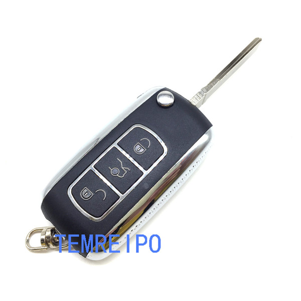 3 buttons Replacement Flip Folding Car Key Shell with key chain for vw with sitcker