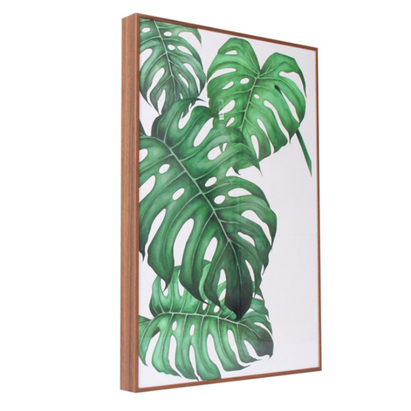 60*90CM Manufacturers Wholesale Aluminum Solid Wood Grain Thin Frame New Nordic Decorative Photo Frame (E09A8M H45mm)