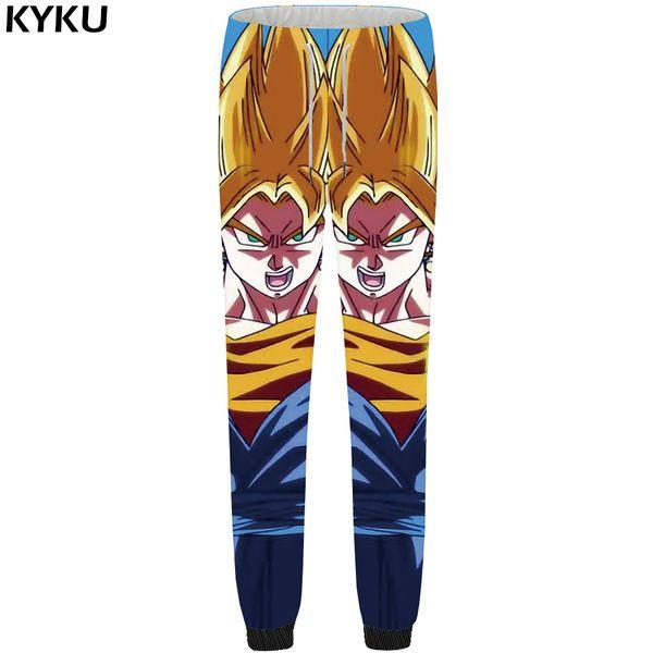 KYKU Brand  Pants Men Goku Sweatpants Large Size 3d Print Britches Sweat Yellow Gothic Mens Trousers 2018 New Booms