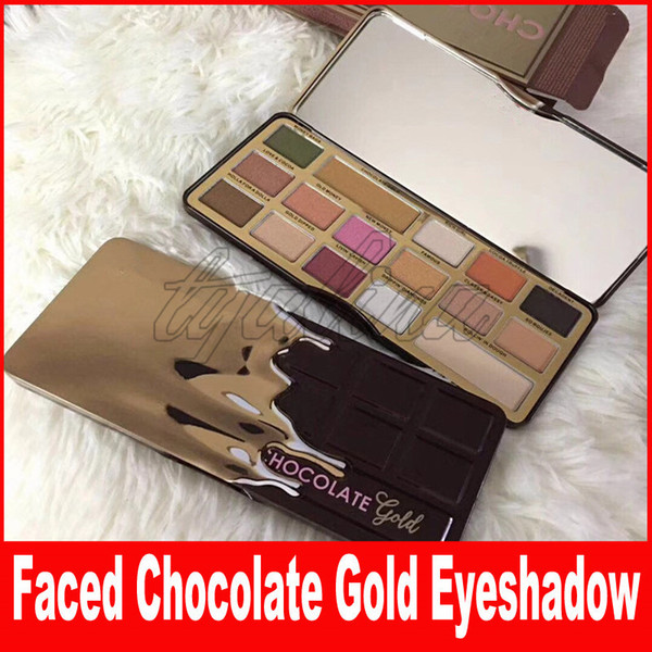 New Faced Makeup COCOA eyeshadow Powder Palette Shimmer Cosmetics Chocolate Gold 16 colors matte Eye shadow