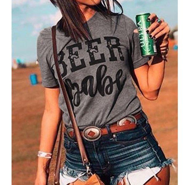 Tarzı bira bebek üstleri moda teegobble kadın t-shirt merry christmas tee çılgın düve üst bayan moda kadın gömlek artı boyutu