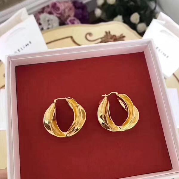 Encontrar semelhante partido imitado 18 k banhado a ouro de luxo brincos de argola para as mulheres do casamento nupcial do feriado da moda brinco acessórios ps6769