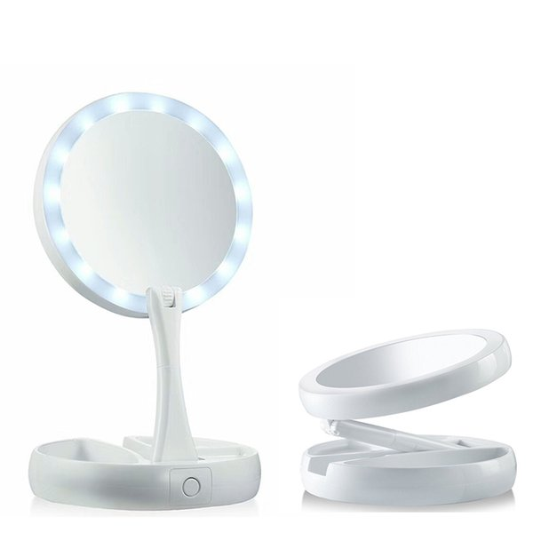 My Fold Away Make Up LED Mirror 360 Degree Rotation Touch Screen Make Up  Cosmetic Folding Portable Compact Pocket OTH780
