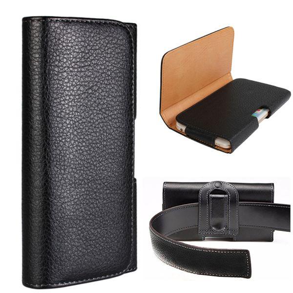 Cinto universal clipe de couro bolsa de cintura bolsa bolsa coldre cinto de telefone capa para iphone x 8 7 plus samsung s9 google pixel xl