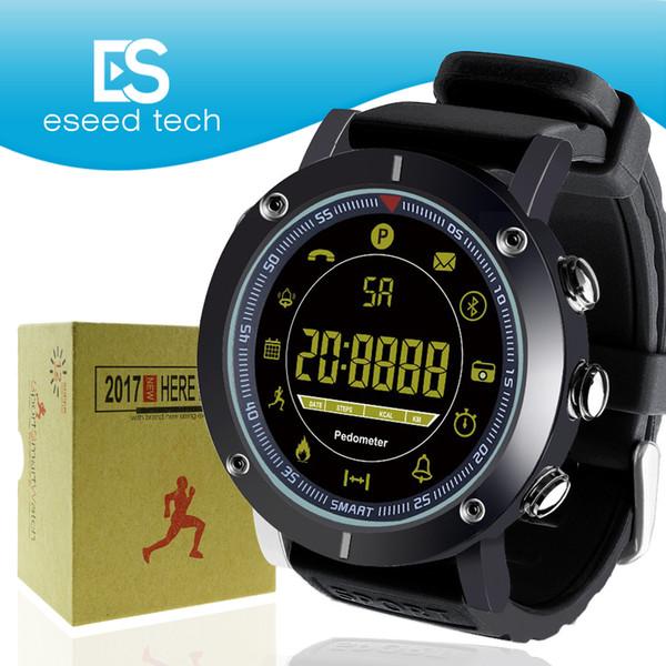 2018 EX19 akıllı İzle 5ATM yüzmek su geçirmez Çağrı SMS Uyarısı Pedometre kronometre spor izci IOS Android iphone için Smartwatch Kol ...