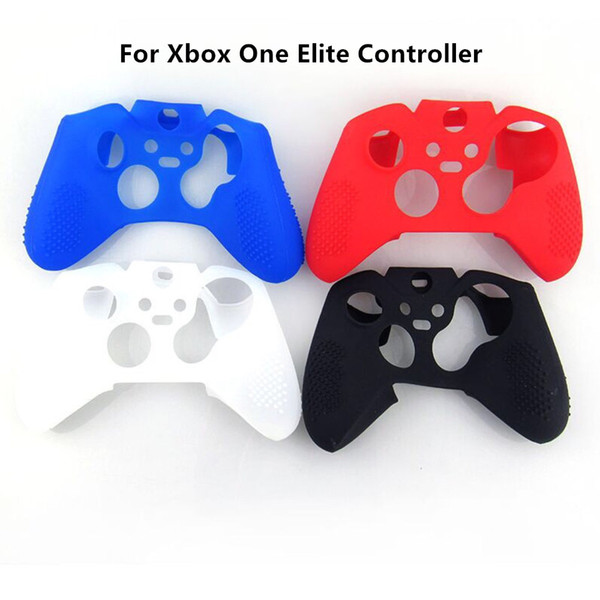 Free shipping Protective Soft Silicon Gel Rubber Cover Skin Case for Xbox One Elite Controller Black, White, Red, Blue color