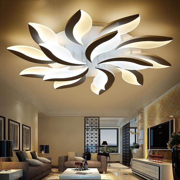 Nuevo Diseño Acrílico Moderno Led Luces de Techo Para la Sala de Estudio Dormitorio lampe plafond Avize Interior Lámpara de Techo
