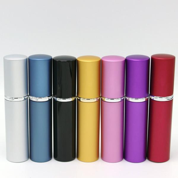5ml mini bottiglia di profumo spray viaggio riutilizzabile contenitore cosmetico vuoto bottiglia di profumo atomizzatore bottiglia di alluminio