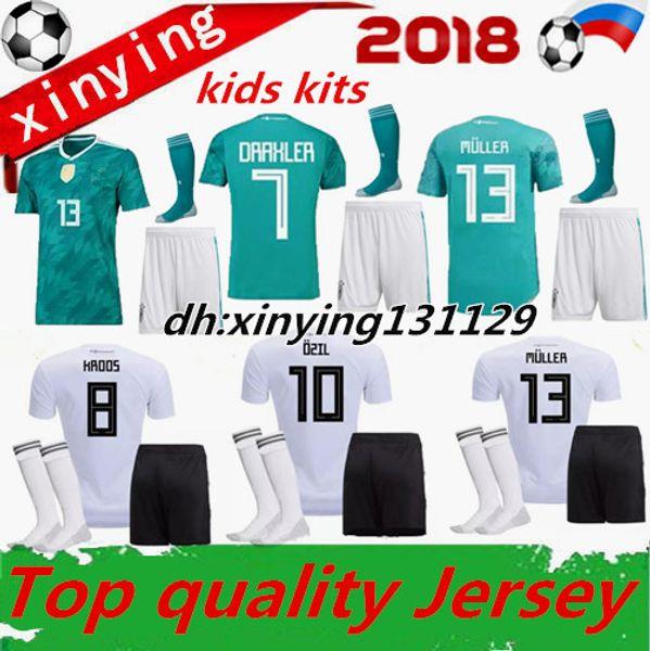 9145ff3e5de germany kits Promo Codes - world cup 2018 GERMANY kids soccer jersey kit  away muller HUMMELS
