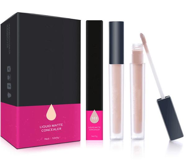 Горячий макияж бренд красоты жидкий матовый консилер 3 цвета 5 г лицо Фонд высокое качество DHL доставка