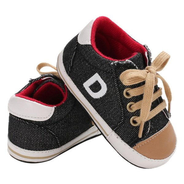 Baby Shoes Baby Toddler Shoes 2018 New Infant Boys Casual Classic Canvas Sneakers Newborn Soft Non-slip First Walkers 0-18M