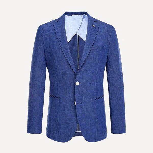 Men's Casual Suits Luxury Cotton Fabrics Slim Men's Suits Two buttons Wedding Banquet Dresses Men's Jackets Gentlemen