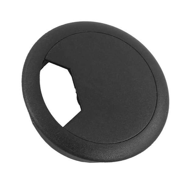 NOCM-2 Pcs 50mm Diameter Desk Wire Cord Cable Grommets Hole Cover Black