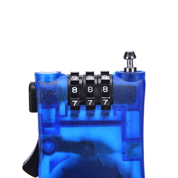 1Pc Safety 3 Digit padlock Bicycle Rock Password Lock Retractable Combination Cable Code Lock Helmet Luggage