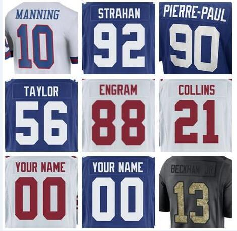 hot sale online 89fc6 403f0 Hot Sale New York Landon Collins Giants Jersey Evan Engram Jason Pierre  Paul Vapor Untouchable Color Rush Limited Customized American Jersey UK  2019 ...
