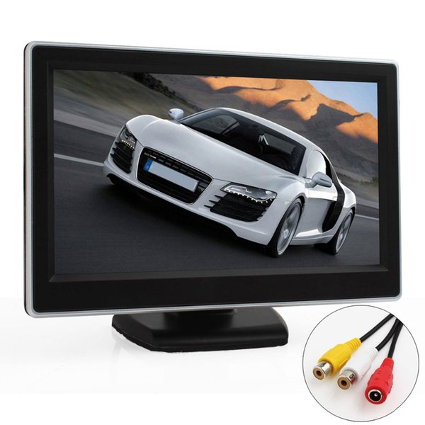 Freeshipping 5 Inch TFT LCD Digital Car Rearview Monitor Reverse Backup Monitor Security Parking for Rear view Camera