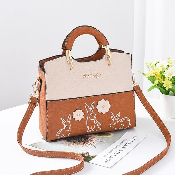 2019 Fashion Women Bag 2018 Luxury Brand Designer Shoulder Bags with Sunflower Large Capacity Crossbody Bag Rabbit Print Handbags
