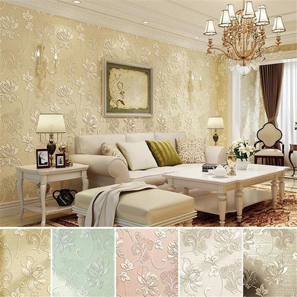 Roll Modern Simple Style Luxury 3D Flower Pattern Wallpaper Self-adhesive desktop DIY Wall Sticker Home Decor