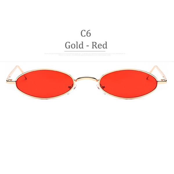 C6 Obiettivo Rosso Cornice Oro