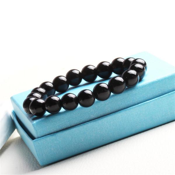 6mm/8mm glass crystal beads bracelets for women men nature stone adjustable charm Pulseira bracelets Feminina fashion jewelry