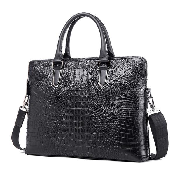 Men's leather business men's double pull bag oversized wallet card bag