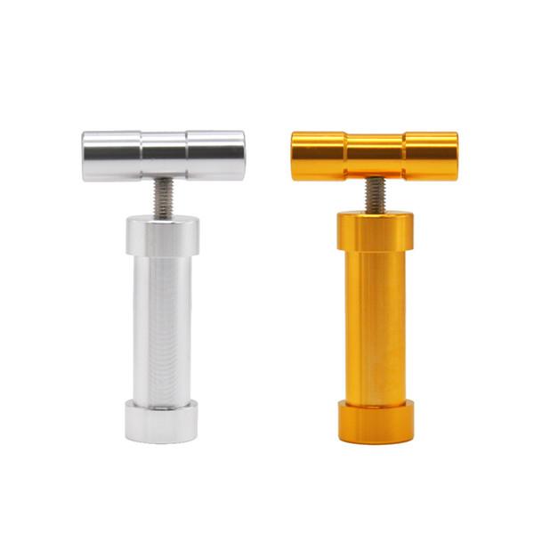 Aluminium manuale T resistente all'uso Pollen Presser 110MM Compressore a pressione Herb Grinder Tobacco Spice Crusher Accessori