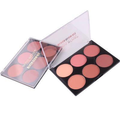 MISS ROSE 6 Color de Piel Colorete Maquiagem Paleta de Maquillaje Mate Mineral Colorete En Polvo Mejilla Rouge Cosmético Horneado Colorete
