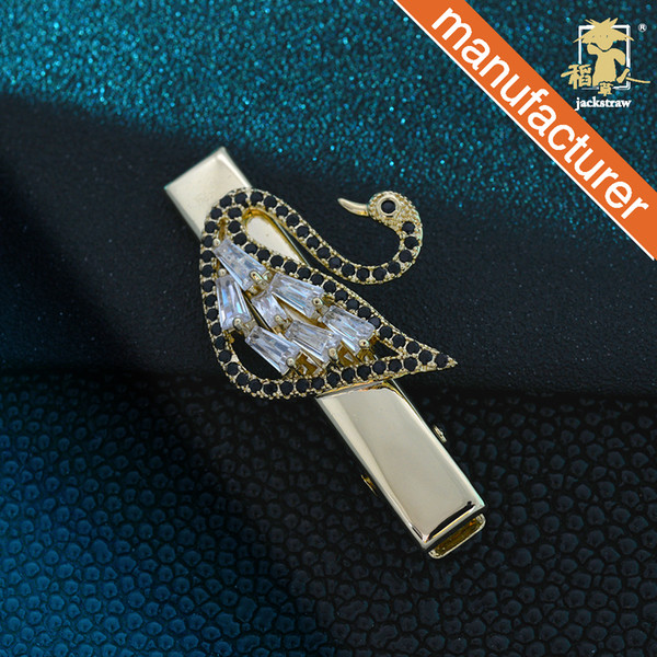 Micro-inlaid rhinestone zircon hairpin Swan side clip bangs hairpin hairpin front Japanese and Korean duckbill clip hair accessories
