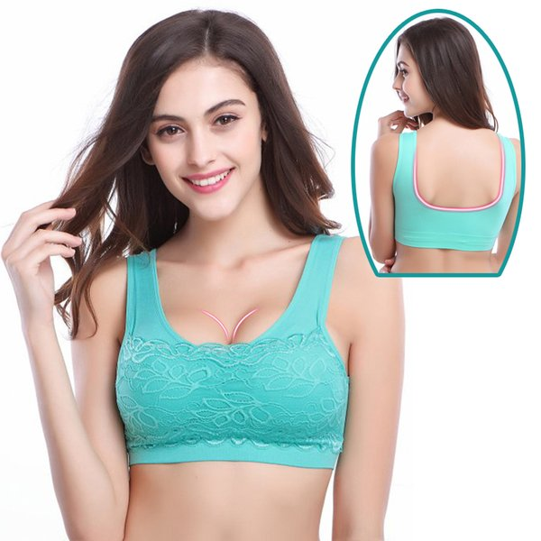 Yoga Sports Bra Lace Women's Running Vest Tank Tops Wirefree Bra for Running Gym Fitness Seamless Women Underwear