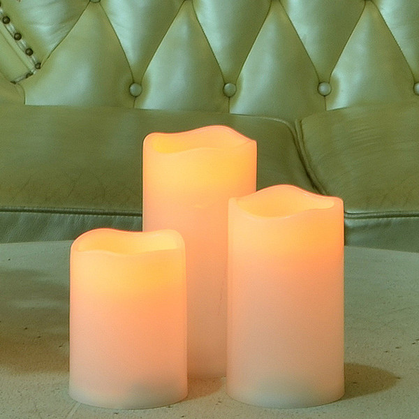 3pcs /Lot 2aa Battery Operated Flameless Candle Led Candle For Bar Home Decoration Electric Led Candle