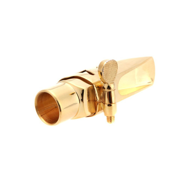 2 PCS of (Jazz Soprano Saxophone 5C Metal Mouthpiece +Pads Cushions +Cap Buckle with Gold Plating)