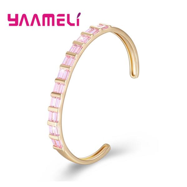 YAAMELI Sale 2018 Fashion Bridal Gift Top Quality Crystal Stretch Shine Bracelets For Women lover Girlsfriend Bangles Promotion