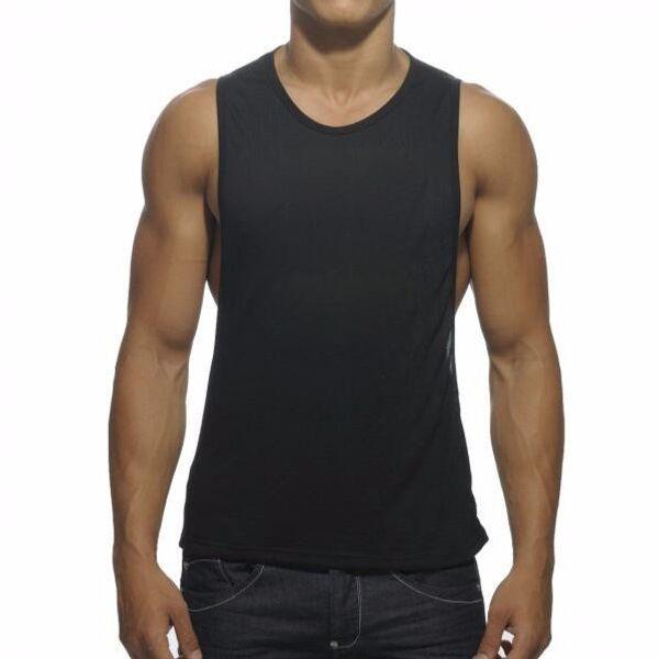 Männer Baumwolle Casual Fitness Sport Tank Tops für Männer Sommer elastische Gym Running Active ärmellose T-Shirts Westen Unterhemd