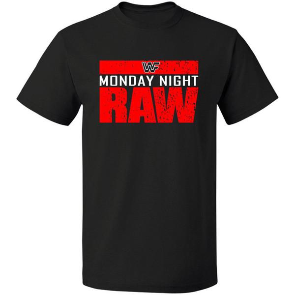 Maandag Night Ruwe est Oorlog Logo WWF Tshirt GRATIS VERZENDING T-SHIRT S-3XL Mouw T-shirt Zomer Mannen Tee Tops Kleding