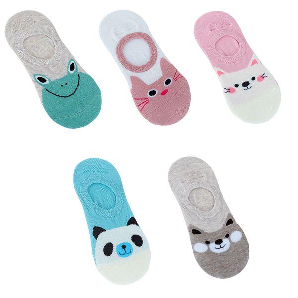 80PAIRS/LOT Women Socks Ankle Candy Colors Sock Animal Cartoon Short Cotton Sock Slippers Breathable Casual Kawaii Socks