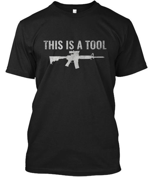 I Am the Weapon Gun Shirt - AR15 штурмовая винтовка-инструмент Оптовая прохладный случайные рукава хлопок футболка мода новые футболки Tagless Tee футболка