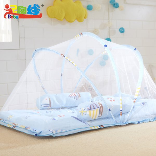 Cute Sea Sailboat Baby Mosquito Net Cartoon Cradle Mosquito Net For Babies Children Bed Canopy Suit 0~5 Years old Kids