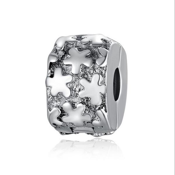 2017 Fit Sterling Silver Bracelet Twinkling Stars Charms Beads European Stopper Clip Lock Charm Fits Pandora Bracelet Jewelry Findings Xmas