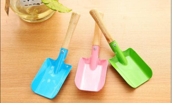 Small Shovel Garden Spade Hardware Tools Mini Gardening Shovel Colorful Metal Digging Garden Tools Kids Spade Tool
