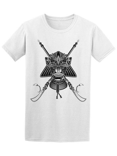 T-shirt da uomo giapponese Samurai Helmet T-shirt da uomo stile estivo T shirt da uomo t-shirt da uomo 2018 Summer Round Neck T-shirt da uomo