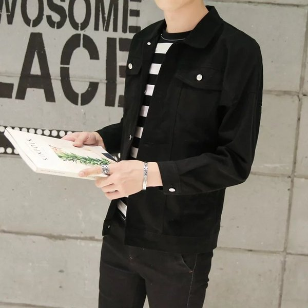 Spring and Autumn fashion new Boys Youth Fashion Slim Solid Color Jacket Top 2019 Korean New Trend Men coat 6865