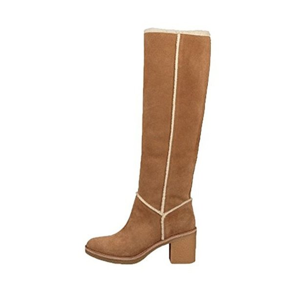 The latest winter wool snow boots ladies round head head thick with high heels female fashion warm real fur knee high boots wome