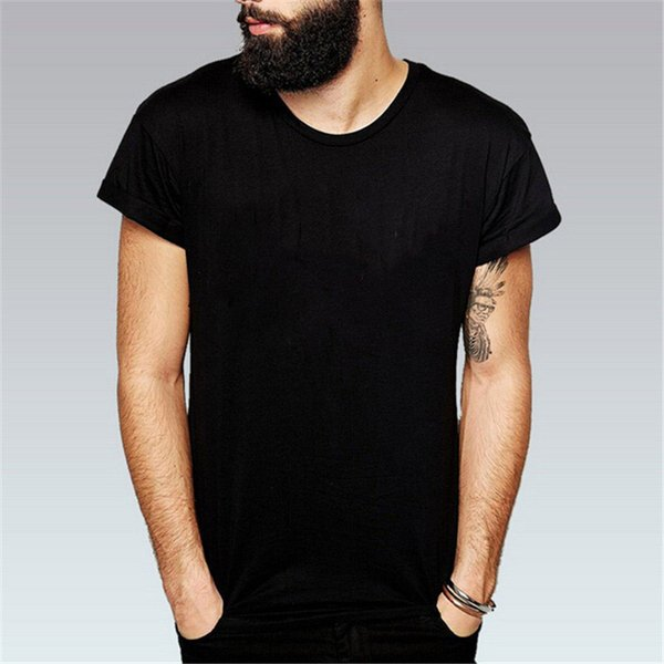 Europe and America T-shirt Mens Clothing Size S-3XL Mens Tops Summer Short Sleeve Shirt Cotton Blend 8Color T-shirts for Men Crew Neck