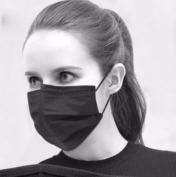 High quality Fashion cotton yarn Mouth Face Mask Cycling Wearing Windproof Anti Dust Anti-pollution Respirator Black Respirator