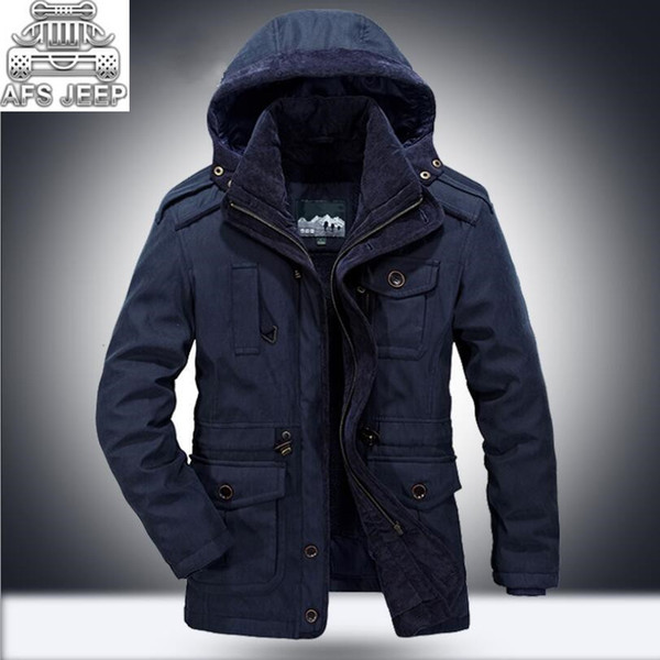 winter -30 degree snow warm thick men parkas polyester sherpa afs jeep mens jackets and coats chaquetas hombre cotton liner c18111201