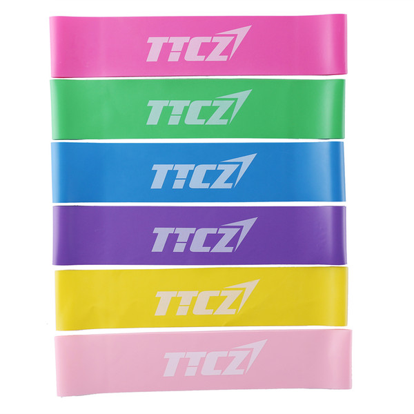 6Pcs/set Natural Latex Bands for Stretching Workouts Resistance Band Heavy Duty Power Yoga Stripes Fitness Equipment
