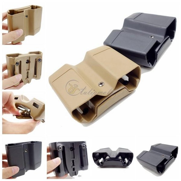Tactical Polymer Double Mag Case Double Stack Magazine Pouch/Holster Universal Type MATTE Finish Tactical Magazine Pouch