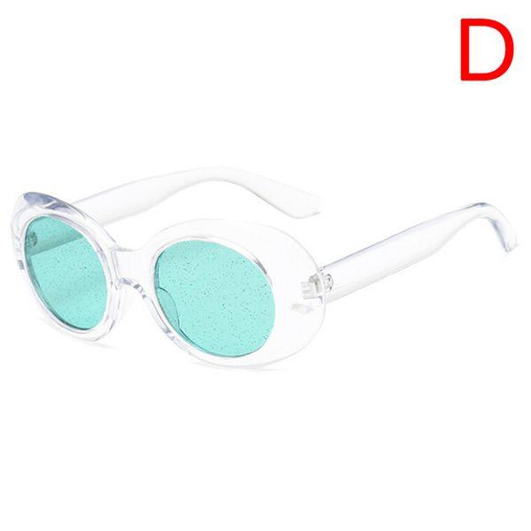 950b64cd1fd5b Nova Venda Oval Óculos De Sol Da Moda Das Mulheres Dos Homens Verde Rosa  Vermelha Quadro de Marca Designer Partículas Lente Clara